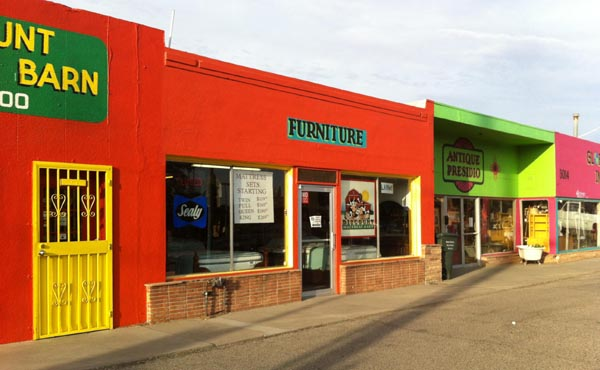 Colorful storefront, bright colors, images, Mexican, Tucson, vivid