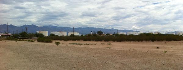 Clouds, desert, Tucson, roadside