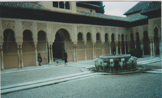 Spain, vacation, Court of Lions, Alhambra, tourist, tourism