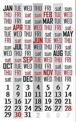 calendar days weeks months years