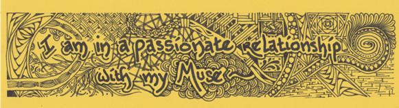 Muse, patterns, Zentangle, design, drawing