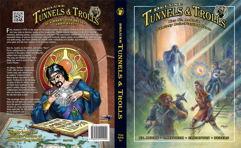 Deluxe, Tunnels and Trolls, RPGs, artwork, Danforth, painting,