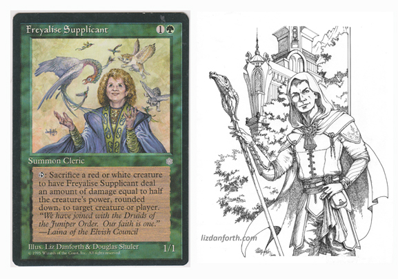 Freyalise Supplicant, portraits, original art, fantasy, Magic the Gathering, MtG