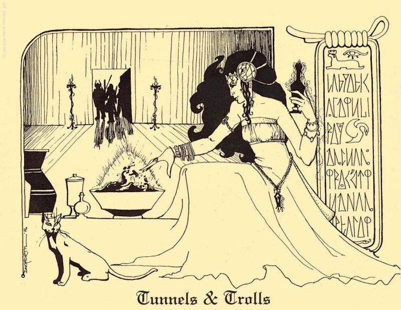 Tunnels & Trolls, T&T, sorcery, sorceress, cat, magic, magician, adventurers