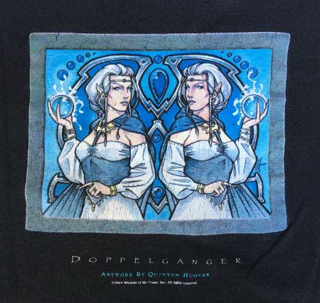 Quentin Hoover, artwork, Doppleganger, t-shirt